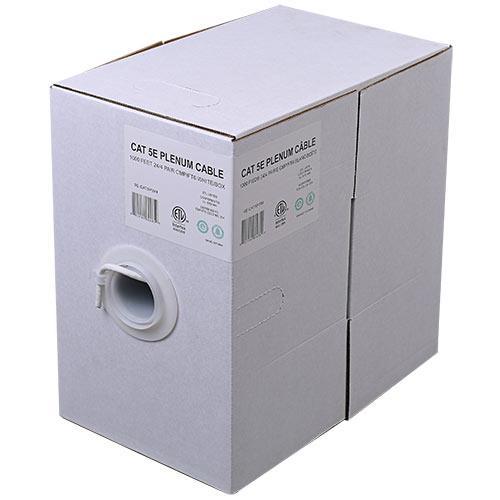 ADI Wire 1000ft. CAT 5 24/4 UTP Plenum Cable Box - White