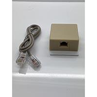 W Box RJ31X Jack + 2' RJ 45 M-M Cable