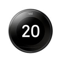 Nest Learning Thermostat, Black (3rd Gen)