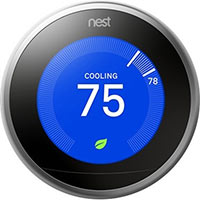 Google T3008US Nest Learning Smart Thermostat 3rd Gen, Stainless Steel