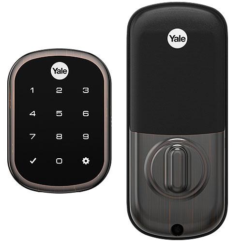 Yale Pro SL Key-Free Touchscreen Deadbolt with Z-Wave® Plus, Bronze