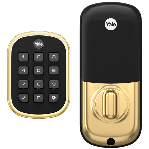 Yale Pro YRD136-ZW2-605 SL Key-Free Keypad Deadbolt With Z-Wave® Plus, Bright Brass