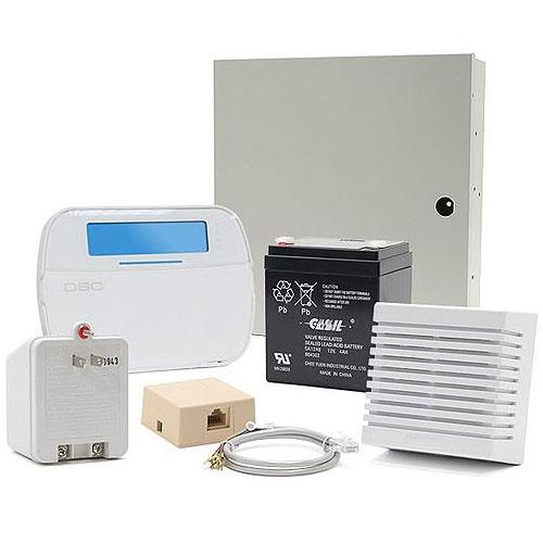 DSC Hybrid Alarm System Kit PC1616 w/ RFK5501 Icon Keypad, wired PIR (KIT16120NT)