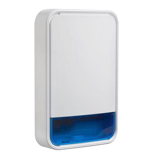 PowerG Wireless Outdoor Siren with Blue Lens