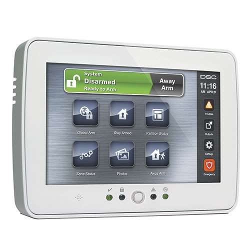 DSC PowerSeries TouchScreen Security Interface