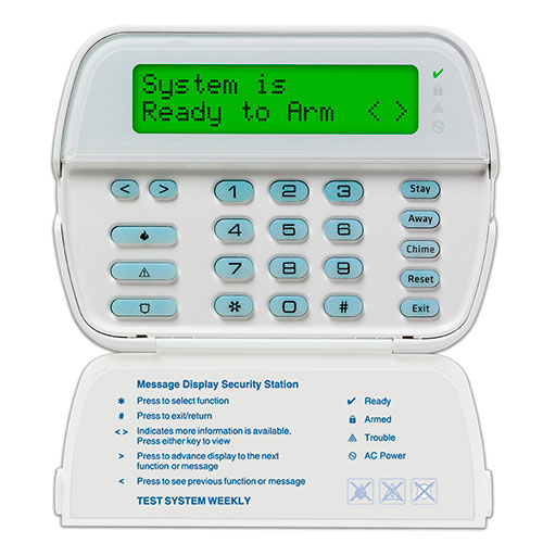 Powerseries 64-Zone Kcd Keypad With Built-In Wireless Receiver