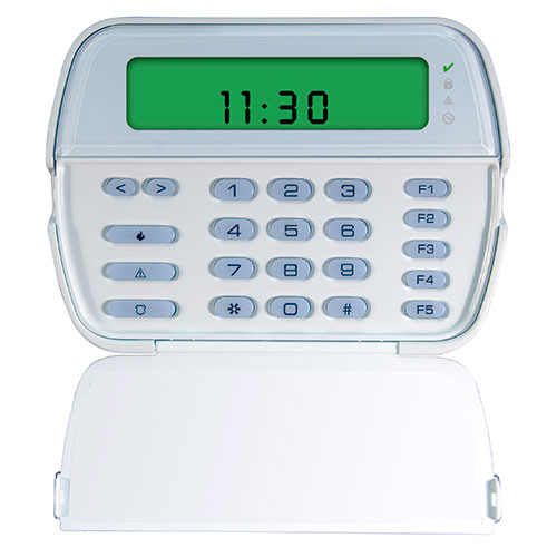 DSC PowerSeries 64-Zone LCD Picture Icon Keypad with Built-In Wireless Receiver