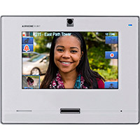 """Aiphone SIP Compatible IP Video Master Station 7"""" Touchscreen and Hands-free (White)"""