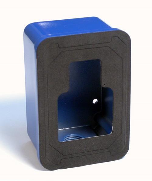 Die Cast Weatherproof Back Box for Pull Station, Blue