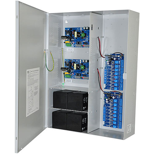 Altronix Maximal77FD Access Power Controller w/ Power Supply/Chargers, 16 PTC Class 2 Relay Outputs, Dual 24VDC P/S @ 9.7A each, FAI, LinQ2 Ready, 115VAC, BC800 Enclosure