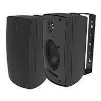 Adept Audio IO50 Indoor/Outdoor Wall Mountable, Surface Mount Speaker - Black