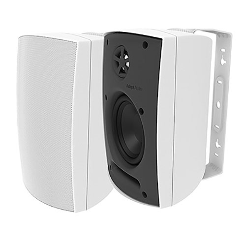 Adept Audio IO50 Indoor/Outdoor Wall Mountable, Surface Mount Speaker - White
