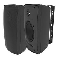 Adept Audio IO60 Indoor/Outdoor Wall Mountable, Surface Mount Speaker - Black