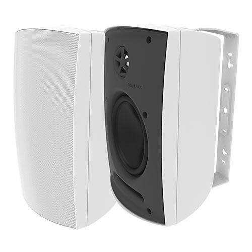 Adept Audio IO60 Indoor/Outdoor Wall Mountable, Surface Mount Speaker - White