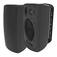 Adept Audio IO80 3-way Indoor/Outdoor Wall Mountable, Surface Mount Speaker - Black