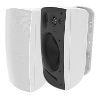 Adept Audio IO80 3-way Indoor/Outdoor Wall Mountable, Surface Mount Speaker - White