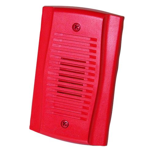 Red Mini Horn W/Selctbl Tones Volum Cntrl 12/24vdc