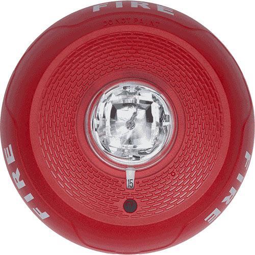 System Sensor SCRL Indoor Ceiling-Mount Strobe - Red