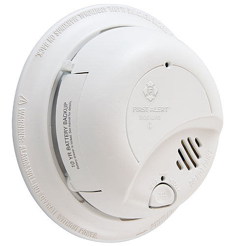 BRK Electronics 9120LBL Ionization Sensor Smoke Alarm With 10-Year Lithium Battery