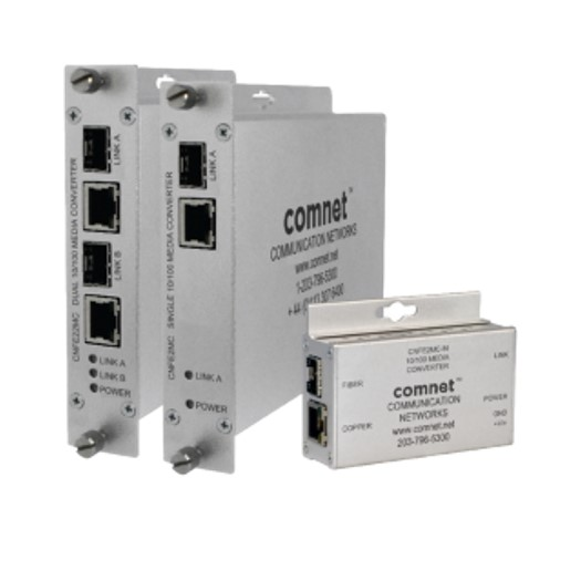 100mbps Media Converter With 2 Contact Closures