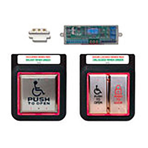Aura Illuminated Push Plate Switch System