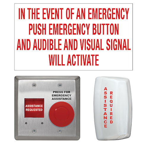 Camden CX-WEC10K2 Universal Emergency Call System Kit with White Dome Light
