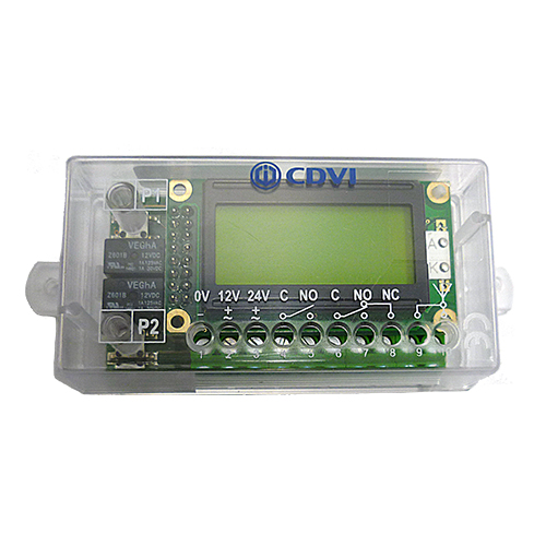 CDVI WR2LCD RADIUM 2-Relay Stand-Alone Receiver + LCD Display