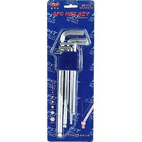 9 PC Hex Key Allen Wrench Set