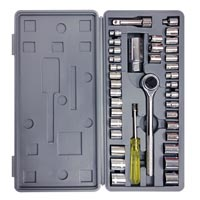"Ratchet Set, 40 Pcs 1/4"" $ 3/8"" Carbon Steel. Case"