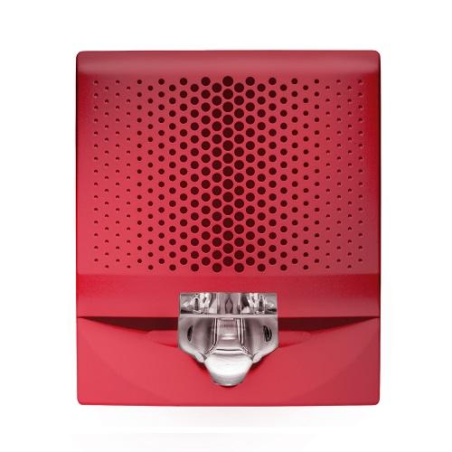 Wall Speaker/Strobe, 15-110cd, Red, Fire Marking