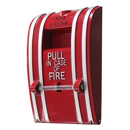 Kidde K-270-DPO Fire Alarm Pull Station, Non-coded, Break glass, Metal, Double pole, Open Circuit, Screw terminal