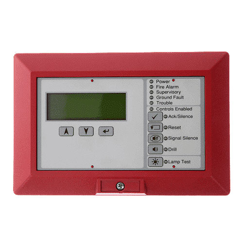 kidde LCD Text Annunciator with Common Controls. English. Red.