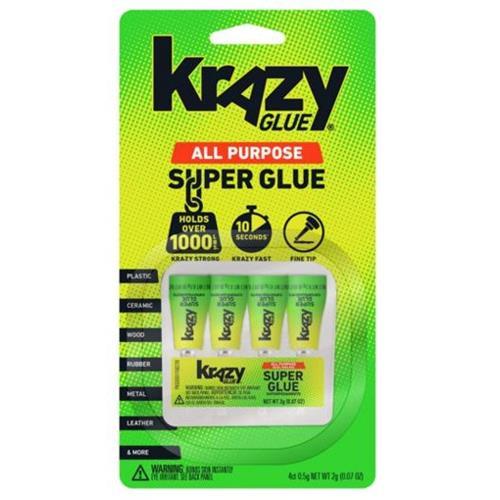 Krazy Glue All Purpose Single 4 Ct 0.5g (4x12)