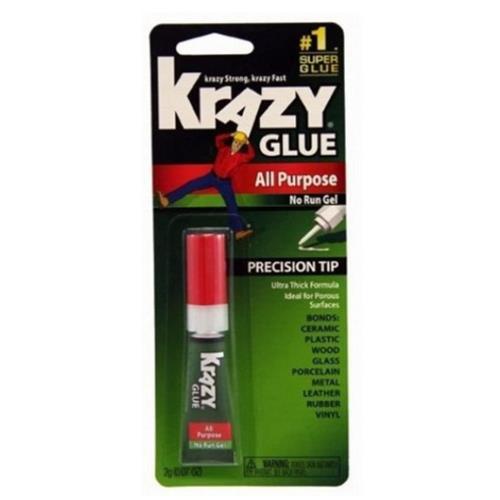 Krazy Glue KG86648R Glue with All-Purpose Gel, 0.07 Oz, Clear