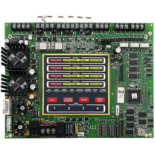 Fire-Lite MS-4 Burglar Alarm Control Panel