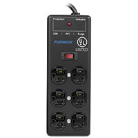 Furman 6 Outlet, 2×3 Metal Chassis Surge Suppressor Strip