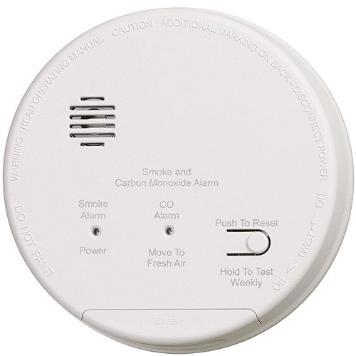 Gentex GN503 Combination Photoelectric Smoke and Carbon Monoxide Alarm, Single/Multiple Station, 120VAC with 9VDC Battery Backup