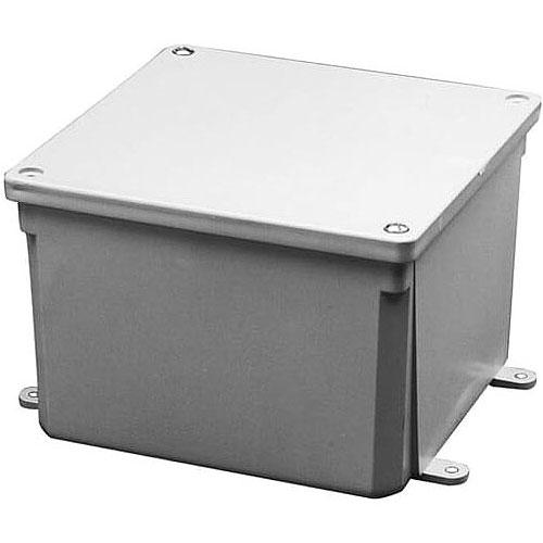 CARLON E989NNJ-CAR 4X4X2 Junction Box, PVC Material; Gray Finish