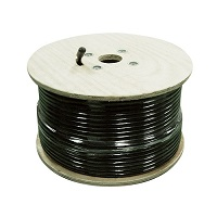 1, 000' Sc-600 Coax Cable W/O Connectors, Black