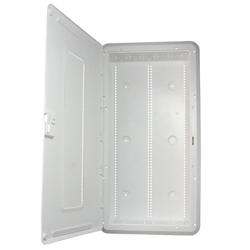 On-Q New - Plastic 30IN Enclosure With Trim Ring And Hinged Door