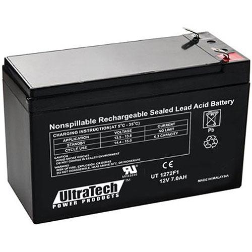 UltraTech IM-1272F1 12V 7.2 Ah Sealed Lead Acid Battery - F1 Terminal