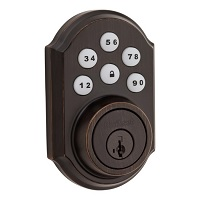 Kwikset 916 Smartcode Contemporary Electronic Deadbolt with Z-Wave Technology  - Venetian Bronze