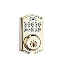 Kwikset Z-Wave® SmartCode 914 Push Button Deadbolt, Brass