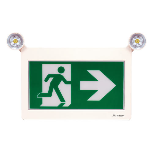Mircom LED Running Man Sign With 2X LED Remotes Built-In (Remote Capable)