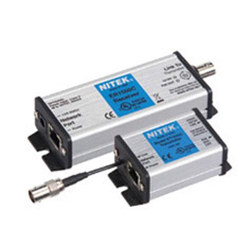 Nitek EL1500C Media Converter Set (Ip Over Coax Cable, Extender & Receiver)