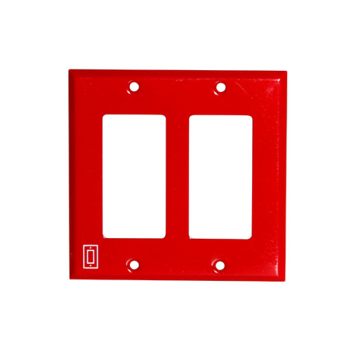 2 Gang Red Plate