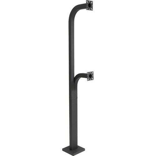PEDESTAL PRO 72-9C-D Mounting Pole for Card Reader, Access Control System, Keypad, Card Reader, Intercom System, Telephone Entry System, Camera - Black Wrinkle