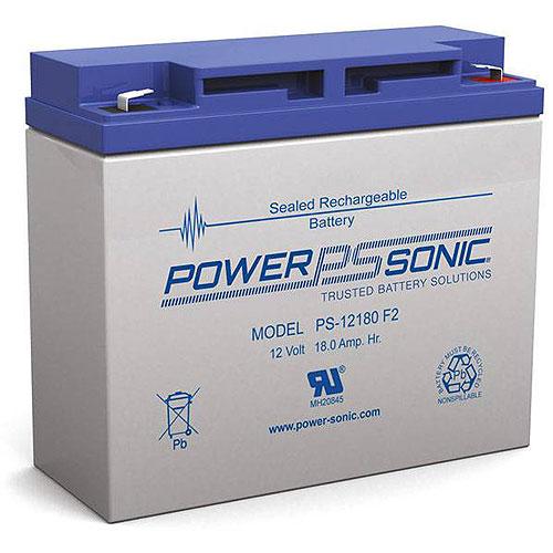 Power Sonic Ps-12180 F2, 12v 18ah Sealed Lead Acid Battery