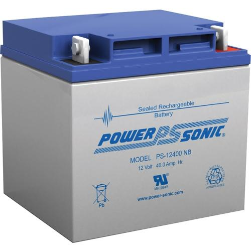 Power Sonic PS-12400NB 12V 40Ah Rechargeable Sealed Lead Acid Battery