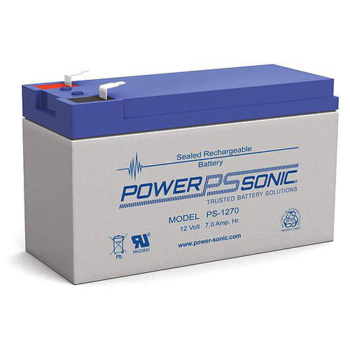 Power Sonic PS-1270F2 12V 7Ah Rechargeable Sealed Lead Acid Battery with F2 Terminal